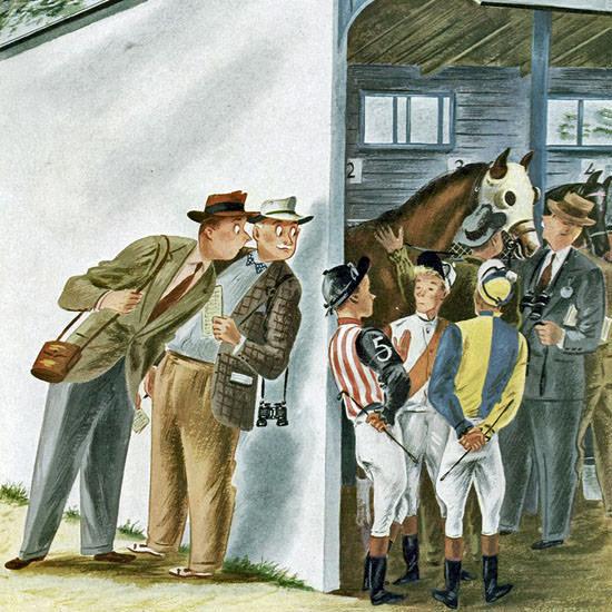 Constantin Alajalov The New Yorker 1947_05_31 Copyright crop | Best of Vintage Cover Art 1900-1970