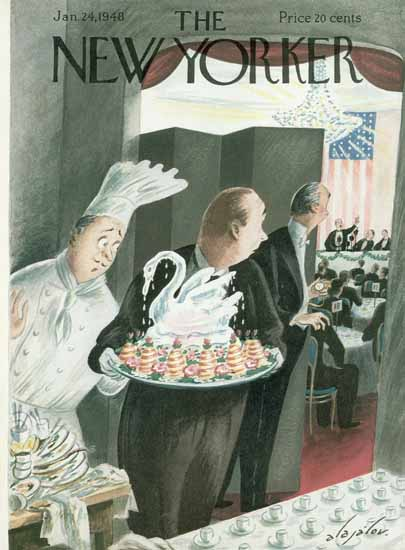 Constantin Alajalov The New Yorker 1948_01_24 Copyright   The New Yorker Graphic Art Covers 1946-1970