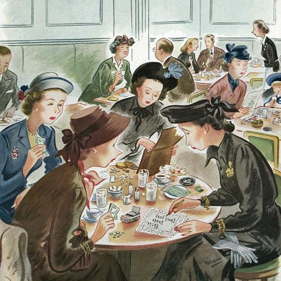 Constantin Alajalov The New Yorker 1948_10_02 Copyright crop | Best of Vintage Cover Art 1900-1970
