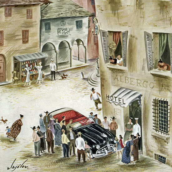 Constantin Alajalov The New Yorker 1949_07_23 Copyright crop   Best of 1940s Ad and Cover Art