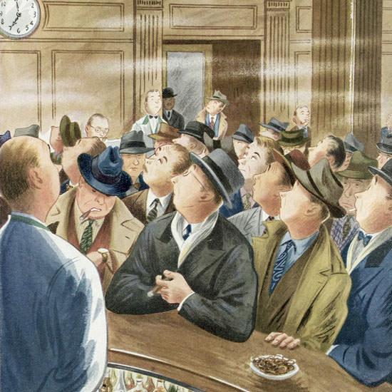 Constantin Alajalov The New Yorker 1949_11_05 Copyright crop | Best of Vintage Cover Art 1900-1970
