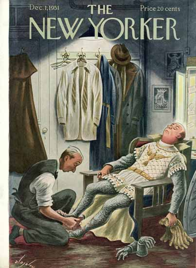 Constantin Alajalov The New Yorker 1951_12_01 Copyright | The New Yorker Graphic Art Covers 1946-1970
