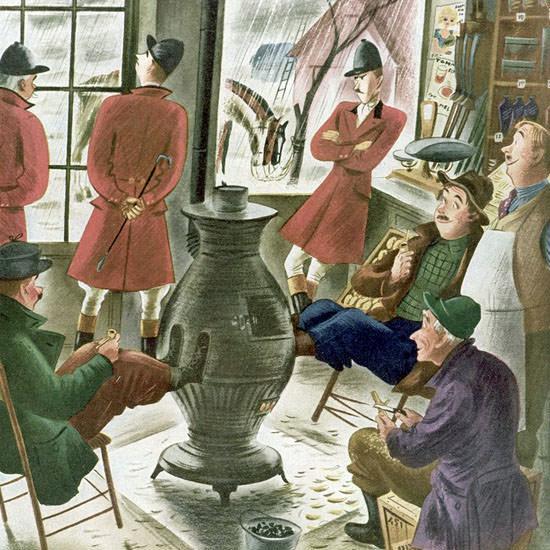 Constantin Alajalov The New Yorker 1952_11_08 Copyright crop | Best of Vintage Cover Art 1900-1970