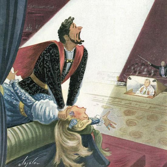 Constantin Alajalov The New Yorker 1953_12_05 Copyright crop | Best of Vintage Cover Art 1900-1970