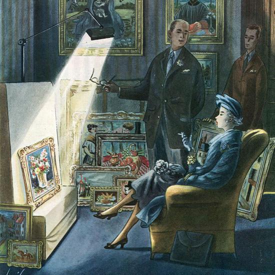 Constantin Alajalov The New Yorker 1958_03_29 Copyright crop | Best of Vintage Cover Art 1900-1970