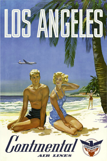 Continental Air Lines Los Angeles 1960s | Sex Appeal Vintage Ads and Covers 1891-1970
