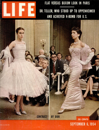 Contrast by Dior 6 Sep 1954 Copyright Life Magazine | Life Magazine Color Photo Covers 1937-1970