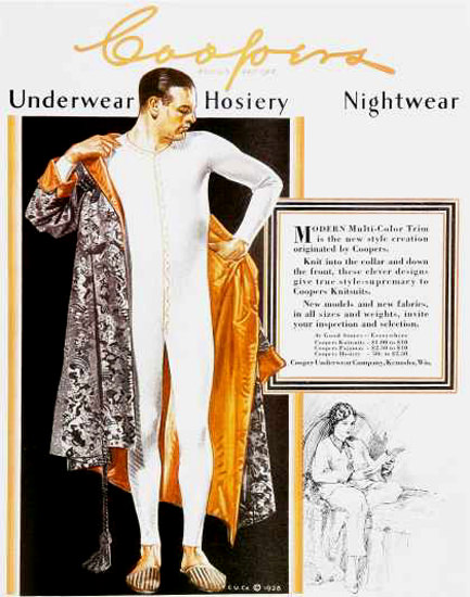 Coopers Nightwear 1920s | Sex Appeal Vintage Ads and Covers 1891-1970