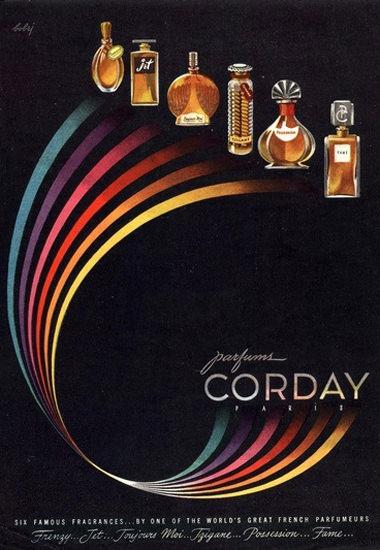 Corday Parfums Paris Six Famous | Vintage Ad and Cover Art 1891-1970
