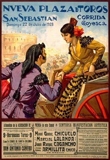 Corrida Goyesca San Sebastian 1928 Plaza | Sex Appeal Vintage Ads and Covers 1891-1970
