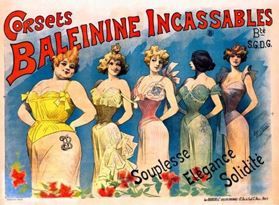 Corsets Baleinine Incassables Souplesse Elegance | Sex Appeal Vintage Ads and Covers 1891-1970
