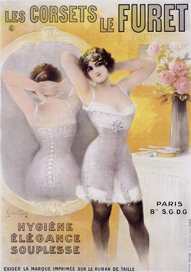 Corsets Le Furet Paris Noury | Sex Appeal Vintage Ads and Covers 1891-1970