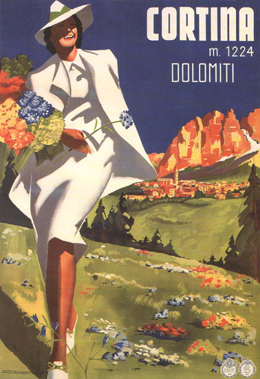 Cortina Dolomiti Dolomite Alps Italy Italia | Sex Appeal Vintage Ads and Covers 1891-1970