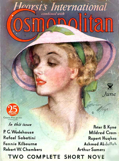 Cosmopolitan Magazine Copyright 1934 P G Wodehouse | Sex Appeal Vintage Ads and Covers 1891-1970