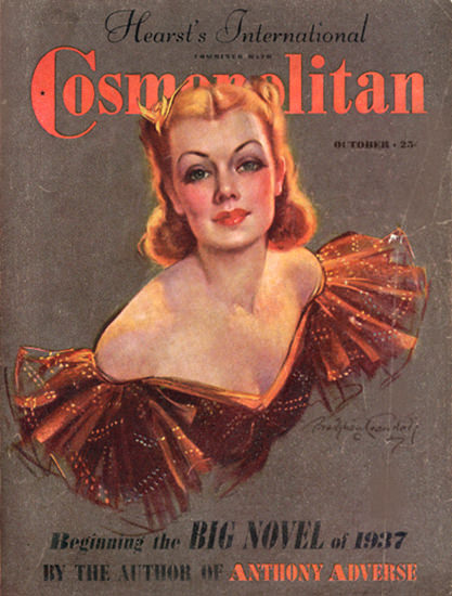 Cosmopolitan Magazine Copyright 1937 Anthony Adverse | Sex Appeal Vintage Ads and Covers 1891-1970