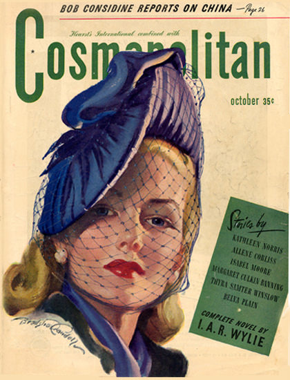 Cosmopolitan Magazine Copyright 1945 Bob Considine | Sex Appeal Vintage Ads and Covers 1891-1970