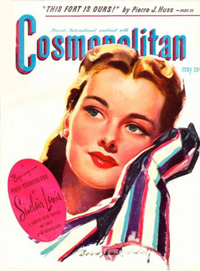 Cosmopolitan Magazine Copyright 1945 This Fort Is Ours | Sex Appeal Vintage Ads and Covers 1891-1970