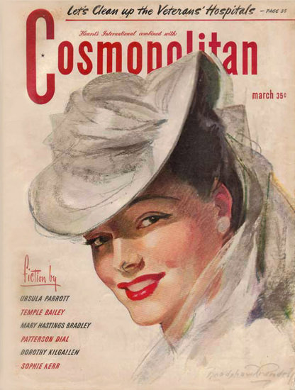 Cosmopolitan Magazine Copyright 1945 Veterans Hospitals | Sex Appeal Vintage Ads and Covers 1891-1970