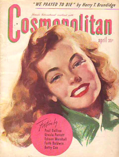 Cosmopolitan Magazine Copyright 1945 We Prayed To Die | Sex Appeal Vintage Ads and Covers 1891-1970