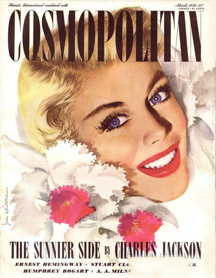 Cosmopolitan Magazine Copyright 1950 The Sunnier Side | Sex Appeal Vintage Ads and Covers 1891-1970