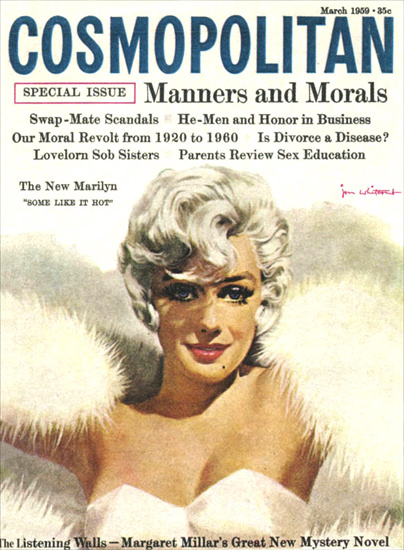 Cosmopolitan Magazine Copyright 1959 Marilyn Monroe | Sex Appeal Vintage Ads and Covers 1891-1970