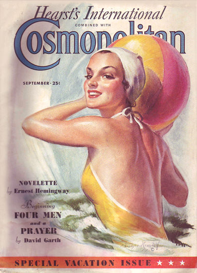 Cosmopolitan Magazine Ernest Hemingway | Sex Appeal Vintage Ads and Covers 1891-1970