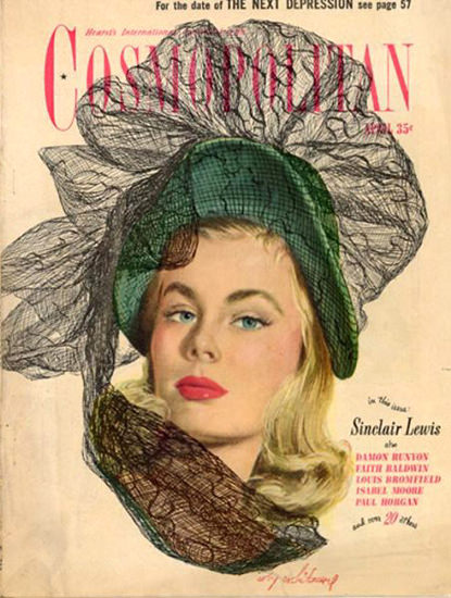 Cosmopolitan Magazine Sinclair Lewis Depression | Sex Appeal Vintage Ads and Covers 1891-1970