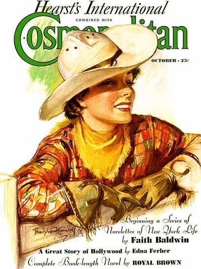 Cosmopolitan and Hearst Magazine Cover Cowgirl Sex Appeal | Sex Appeal Vintage Ads and Covers 1891-1970