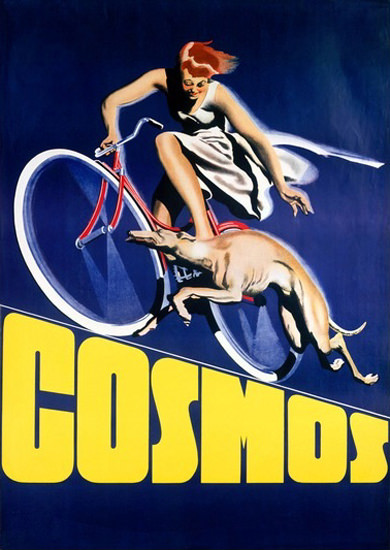 Cosmos Bicycles Running Greyhound | Sex Appeal Vintage Ads and Covers 1891-1970
