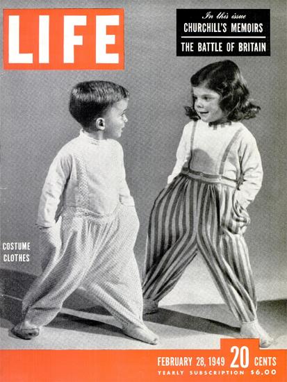 Costume Clothes 28 Feb 1949 Copyright Life Magazine   Life Magazine BW Photo Covers 1936-1970
