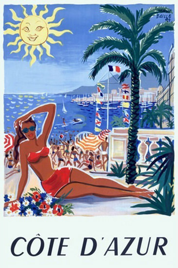 Cote D Azur Beach Girl Societe Nationale CF | Sex Appeal Vintage Ads and Covers 1891-1970