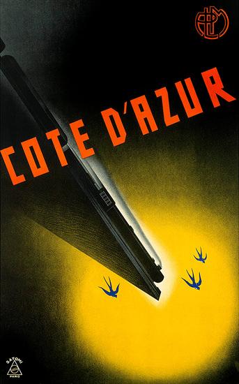 Cote d Azur Swallows | Vintage Travel Posters 1891-1970