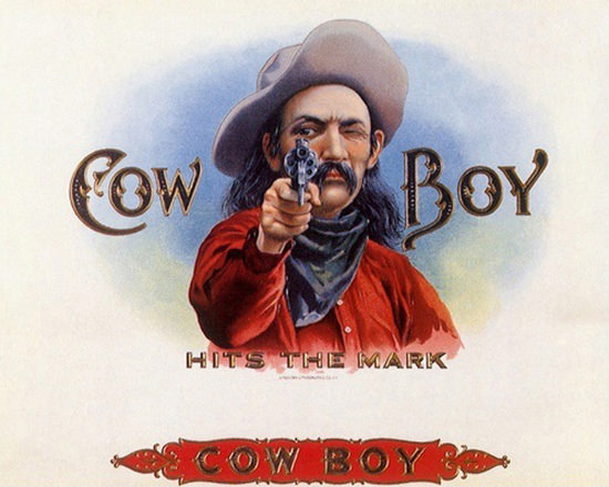 Cow Boy Hits The Mark | Vintage Ad and Cover Art 1891-1970