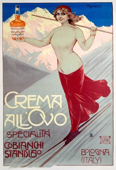 Crema All Ovo Cobianchi Stanislao Bologna Italy | Sex Appeal Vintage Ads and Covers 1891-1970