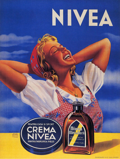 Crema Nivea Romania Nivea Ulei De Nuca Cream | Sex Appeal Vintage Ads and Covers 1891-1970