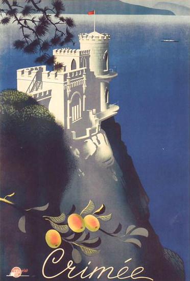 Crimee Castle | Vintage Travel Posters 1891-1970