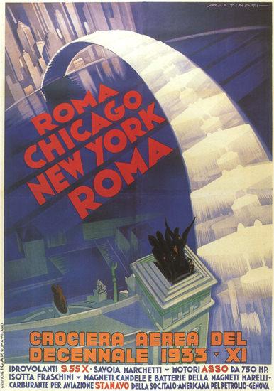 Crociera Aerea Del Decennale 1933 Roma B | Vintage Travel Posters 1891-1970