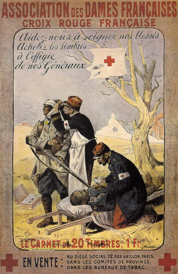 Crois Rouge Francaise France Red Cross | Vintage War Propaganda Posters 1891-1970