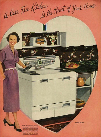 Crosley Electric CareFree Kitchen | Sex Appeal Vintage Ads and Covers 1891-1970
