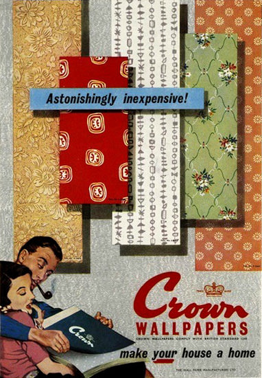 Crown Wallpapers 1955 Your House A Home | Sex Appeal Vintage Ads and Covers 1891-1970