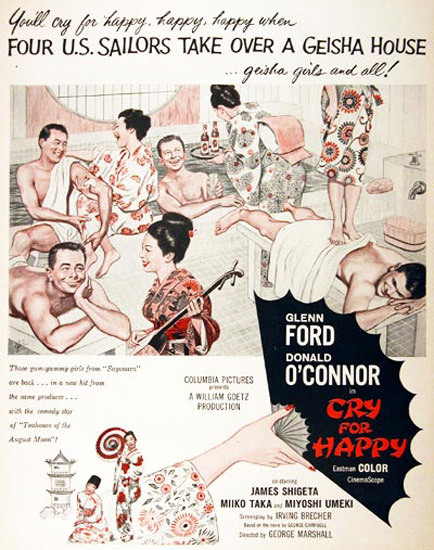 Cry For Happy Movie 1961 Glenn Ford Geisha | Sex Appeal Vintage Ads and Covers 1891-1970