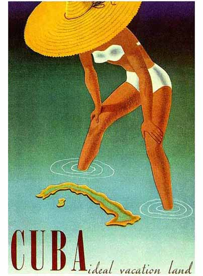 Cuba Ideal Vacation Land Poster Sex Appeal | Sex Appeal Vintage Ads and Covers 1891-1970