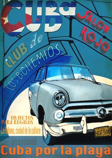 Cuba Salon Rojo Club De Los Bohemios Cuba | Vintage Ad and Cover Art 1891-1970