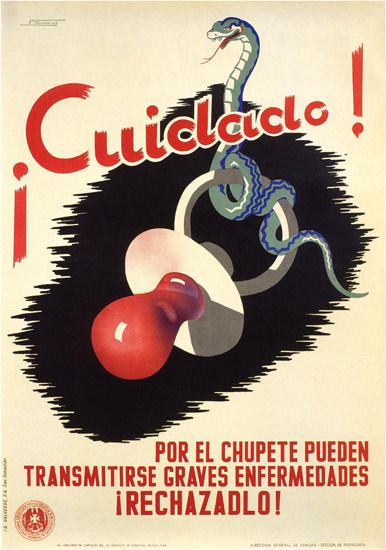 Cuidado Spain Espana | Vintage War Propaganda Posters 1891-1970