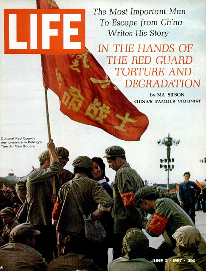 Cultural Red Guards in Peking China 2 Jun 1967 Copyright Life Magazine | Life Magazine Color Photo Covers 1937-1970