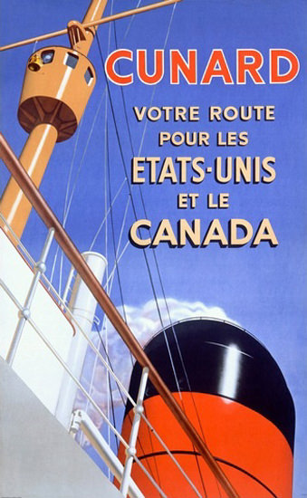 Cunard Line Ocean Liner Etats-Unis Canada | Vintage Travel Posters 1891-1970