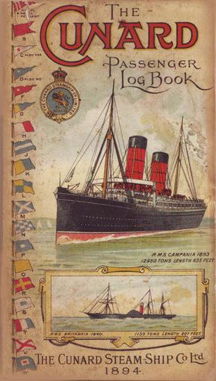 Cunard Line Passenger Log Book 1894 | Vintage Travel Posters 1891-1970