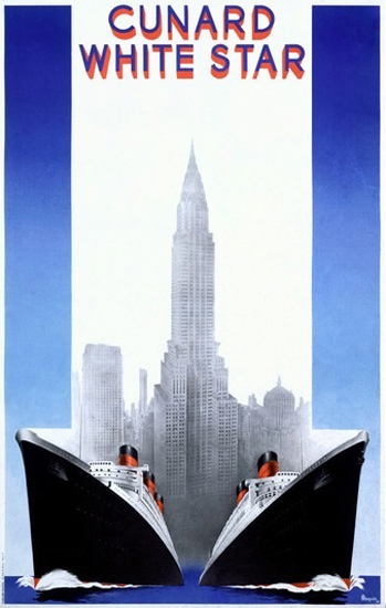 Cunard Line White Star New York Passenger Liner | Vintage Travel Posters 1891-1970