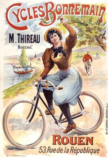 Cycles Bonnemain Rouen M Thireau | Vintage Travel Posters 1891-1970