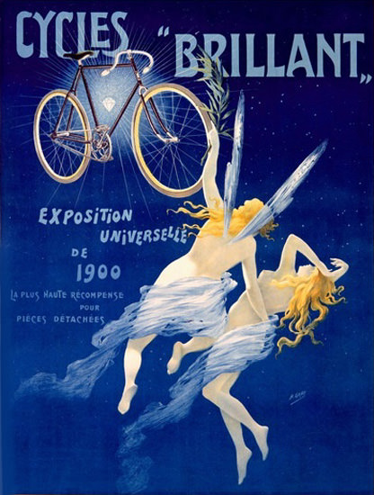 Cycles Brillant Angeles Exposition Paris 1900   Sex Appeal Vintage Ads and Covers 1891-1970